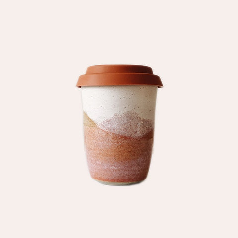 Travel Cup - Pink - Large - Terracotta Lid