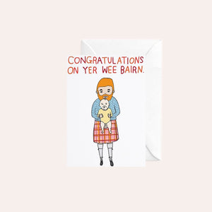 Able and Game Card - Congratulations On Yer Wee Bairn
