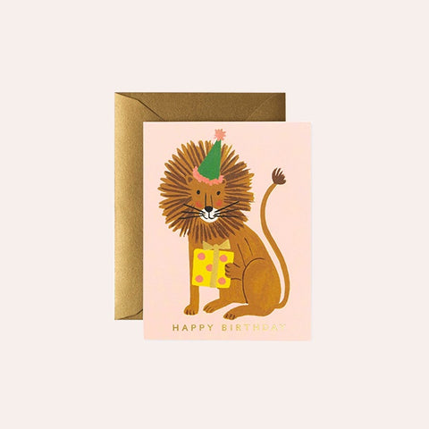 Rifle Paper Co - Single Card - Lion Birthday