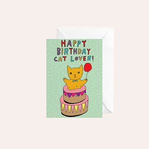 Able and Game Card - Happy Birthday Cat Lover