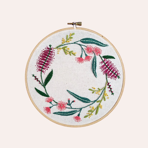 Embroidery Kit - Native Wreath