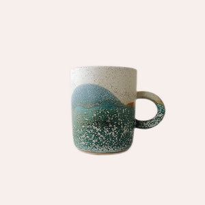 Large Handled Cup - Aurora Borealis