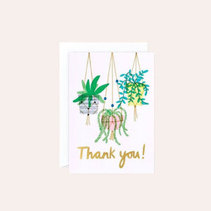 Charlotte Trounce Collection - Single Card with Foil - Thank You Macrame