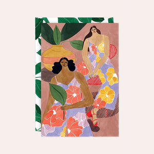 Isabelle Feliu Collection - Single Art Card - Floral Girls