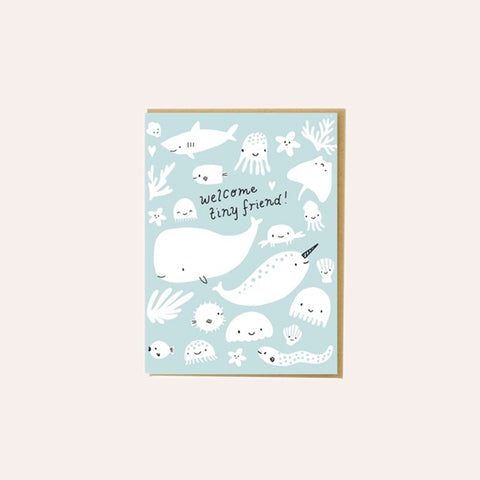 Hello Lucky - Single Card - Tiny Friend