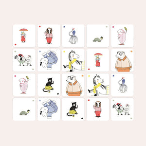 Crocodile and Friends: Animal Memory Game