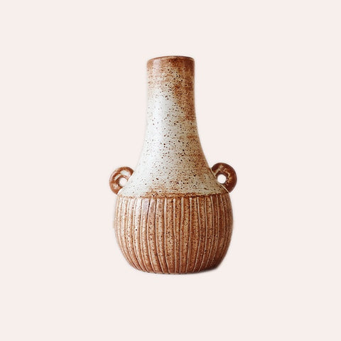 Fire on Clay Vase - C
