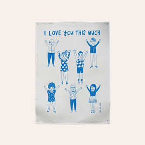 Able and Game - Tea Towel - I Love You This Much