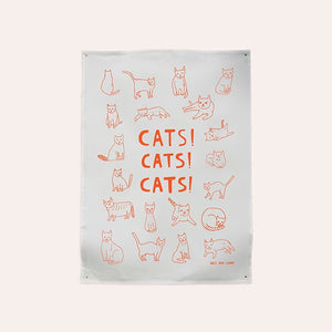 Able and Game - Tea Towel - Cats Cats Cats