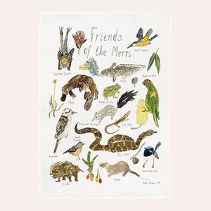 Claire Mosley - Linen Tea Towel - Friends of the Merri Creek