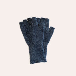 Fingerless Gloves - Medium - Blue Grey