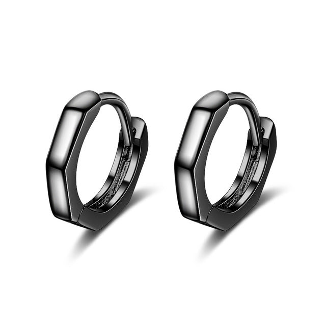 New Arrival Trendy Simple Circle 925 Sterling Silver Ladies Stud Earrings Original Jewelry For Women Men Students Gift Man