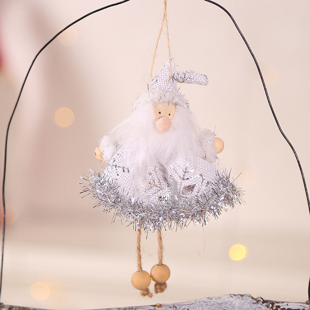Christmas New Cute Angel Santa Doll Christmas Decoration Pendant Creative Christmas Tree Ornaments Christmas Decoration For Home