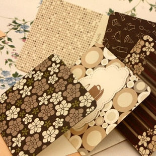 1pcs[CoffeeX] universal small greeting card [coffee] featured multi-purpose card blessing card 5 sheets with envelope