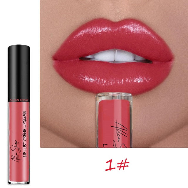 Sexy Women Glitter Shimmer Lipstick Waterproof Long Lasting Moist Lip Gloss Vivid Colorful Lipgloss Women Makeup maquiagem