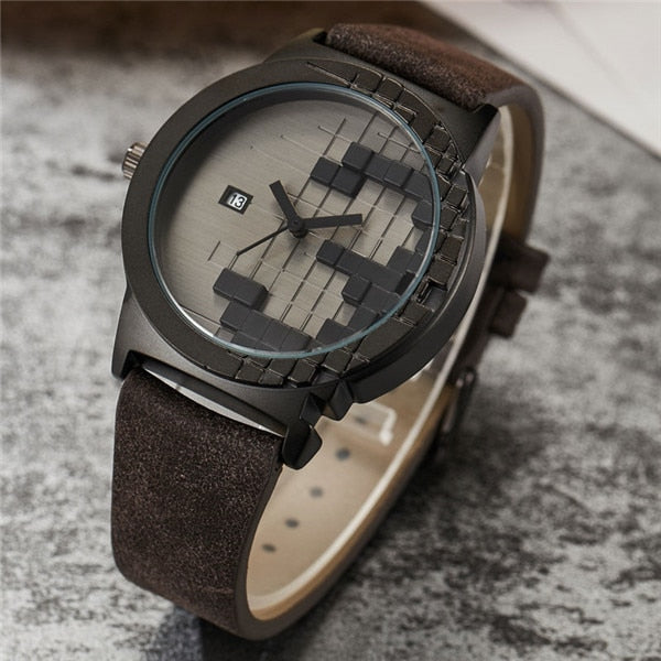 Creative Three-dimensions Black Russia Block Game Watch Mens Date Sport Women Man Cool Minimalist Quartz Wristwathes Lover Gifts