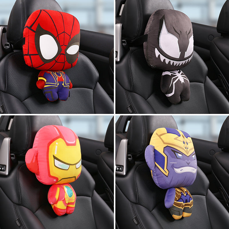 Car Seat Neck Pillow Super Hero Car Headrest Pillows For The Neck Support Seat Head Rest Pillow Car Seat Pillow Car Accessories