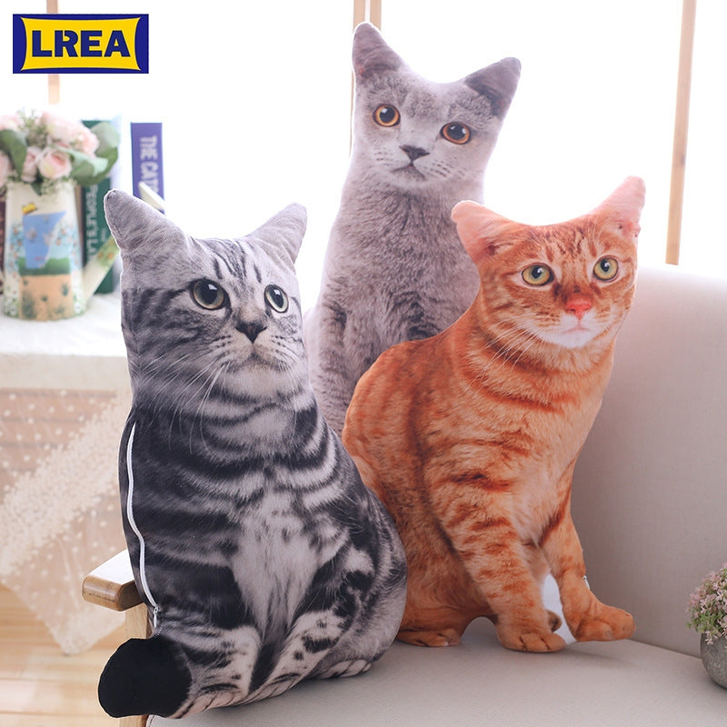 LREA New 50CM  cojines Creative Plush Toy Cute Expression Simulation Cat Pillow Bedroom Sofa Decorations Cushion