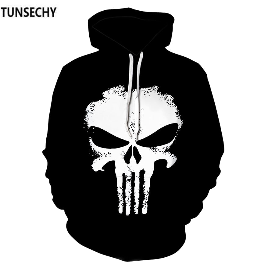 2018 new menswear fashion trend of the American TV series skeleton head European and American head coat men's clothing wholesale