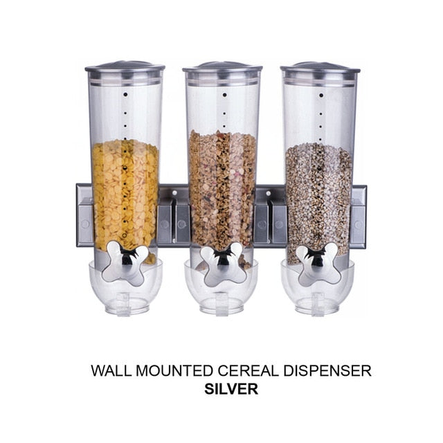 Food Storage Cans Cereal Boxes Kitchen Sealed Cereal Dry Household Snacks Melon Seeds Nuts Candy Dispenser Secret Stash