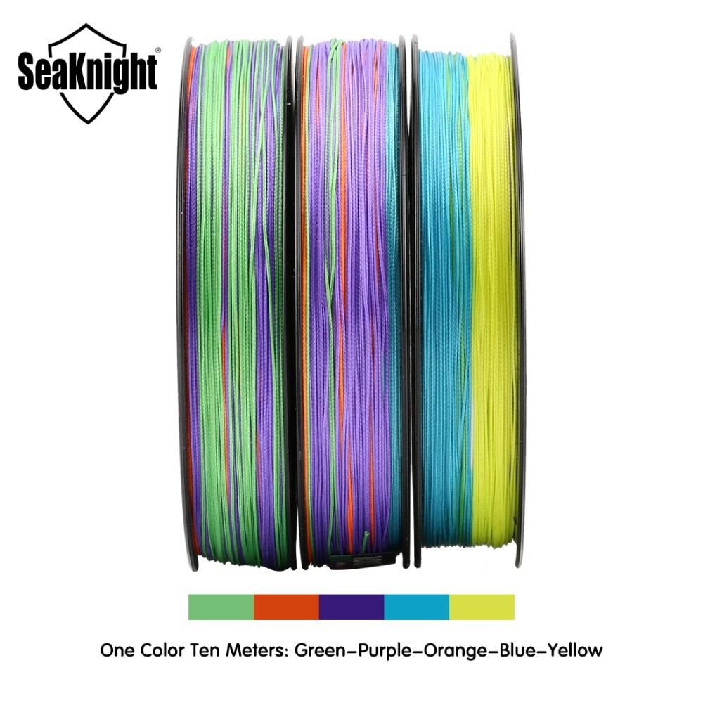SeaKnight MONSTER W8 Fishing Line 150M 300M 500M Braided  8 Strands Multi Color Multifilament  PE Line 20 30 40 80 100LB