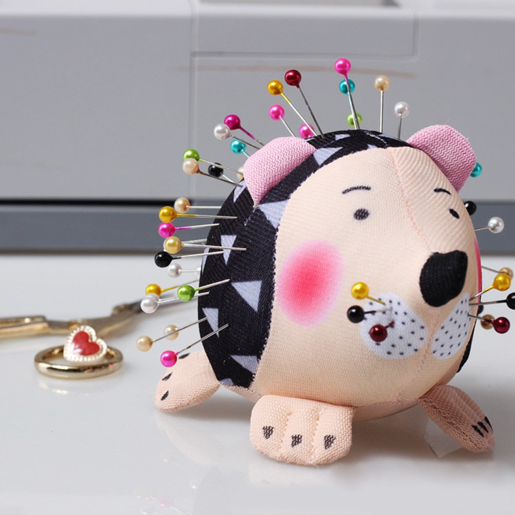 Practical Needlecraft Portable Sewing Anti Falling Pin Cushion Lightweight Cartoon Hedgehog Home Soft DIY Holder Patchwork Cute
