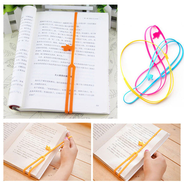 2pcs/lot Silicone Bookmarks Elasticity Bookends Book Clip Organizer Reader Tool office Items Stuff Accessories Supplies Products