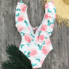 Pink Rose One-Piece Swimsuit
