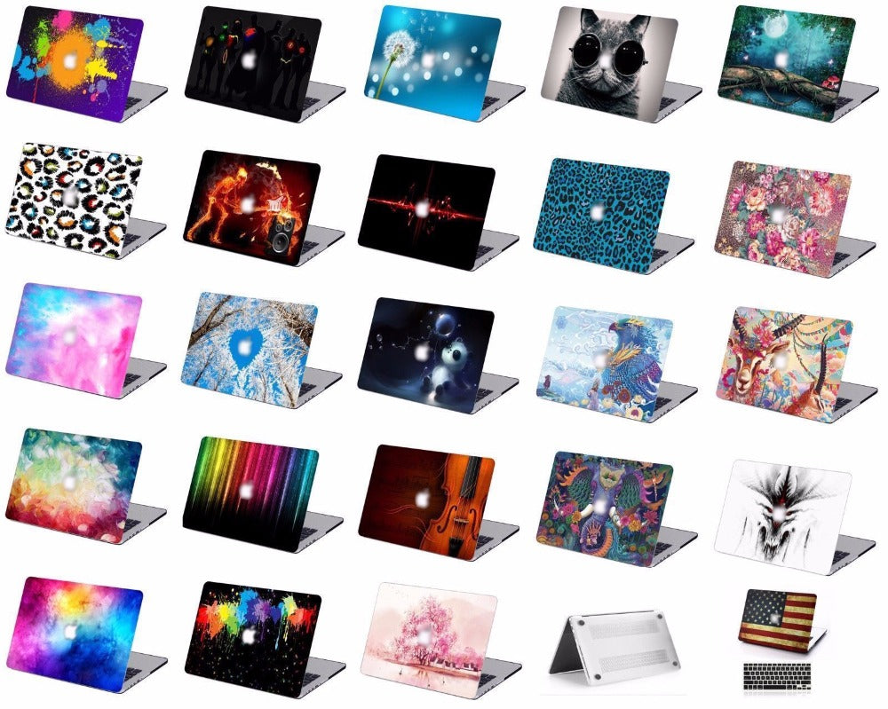 "Print Pattern Protective Hard Shell Case Keyboard Cover Skin Set For Fit 11 12 13 15"" Apple Macbook Air Pro Retina Touch Bar HK"