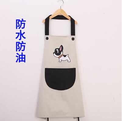 Couple cute dog waterproof and oil-proof apron kitchen men and women adult gowns