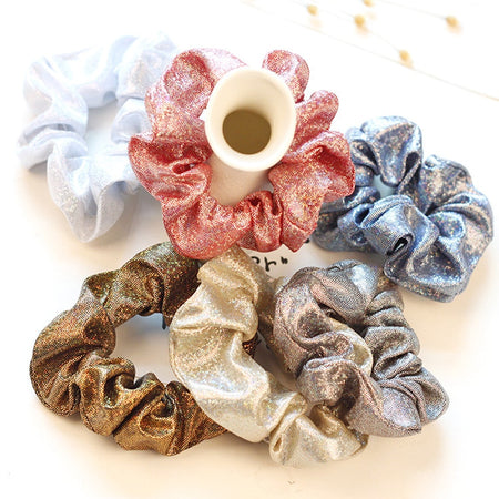 Headbands Women Shiny Fashion Elastic Hair Ties Hair Bands for Girls Rope Ponytail Holder Scrunchie Hair Accessories Headwear