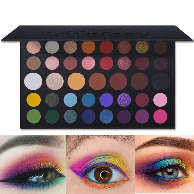 39A Pressed Eyeshadow CREATE Palette Colorful Eye Makeup Shimmer Matte Glitter Eye Shadow High Pigment Waterproof Cosmetic