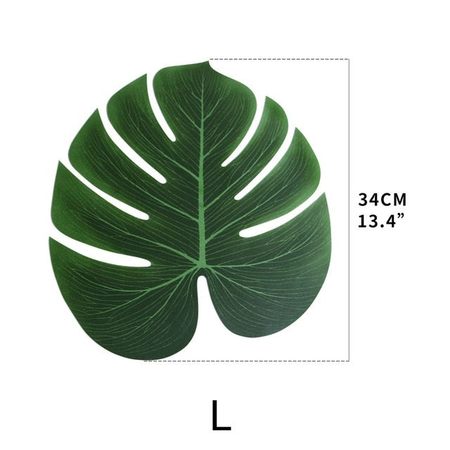 12pcs/Lot Summer Tropical Party Artificial Palm Leaves Hawaiian Luau Party Jungle Beach Theme Party Decoration Hawaii