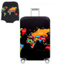 TRIPNUO Red Skull Cover for Suitcase Travel Elasticity Luggage Protective Covers Elastic Travel Accessories Trolley Cover