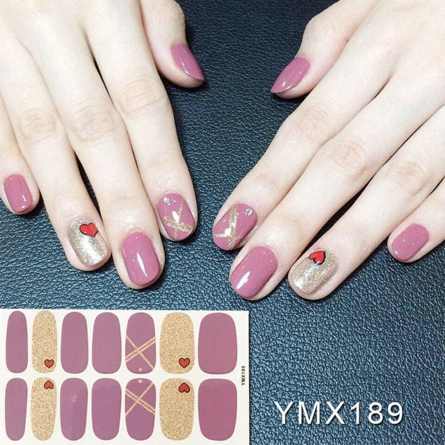 Korea Nail Sticker Full Cover Sticker Wraps Decorations DIY Manicure Slider Nail Vinyls Nails Decals Manicure Art