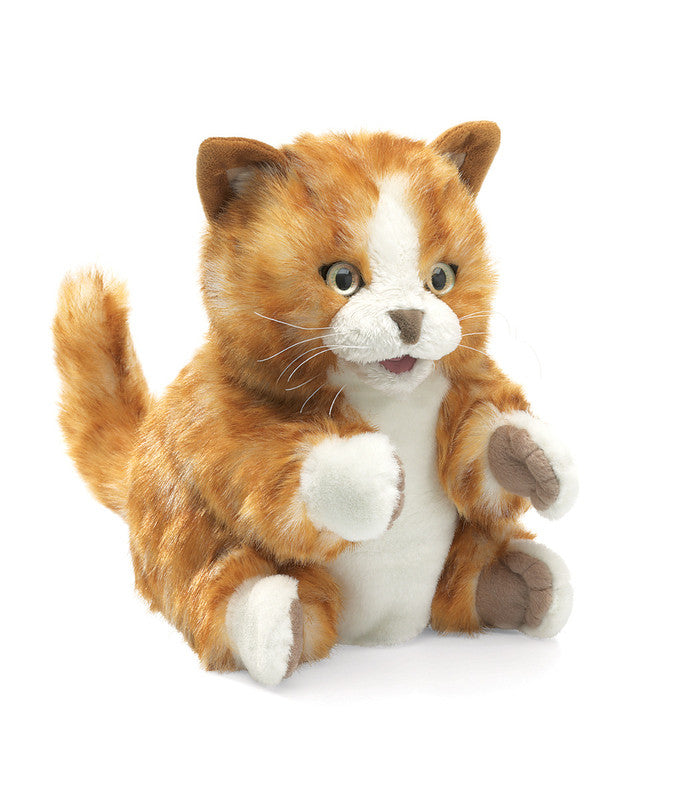 Folkmanis - Kitten  Orange Tabby Puppet