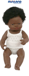 Miniland Baby Doll African 38cm