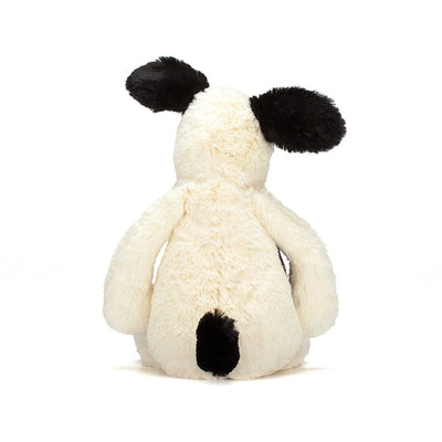 Jellycat - Bashful Puppy Pitterpat Black & Cream - Medium