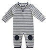 Romper - Grey/Navy Stripe