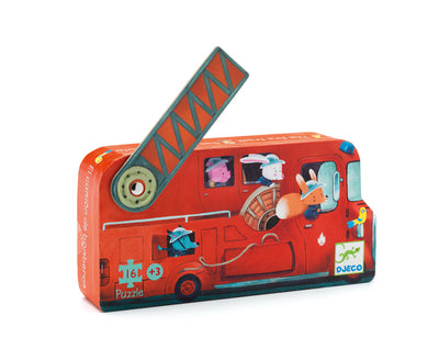 Djeco - The Fire Truck Puzzle - 16pcs