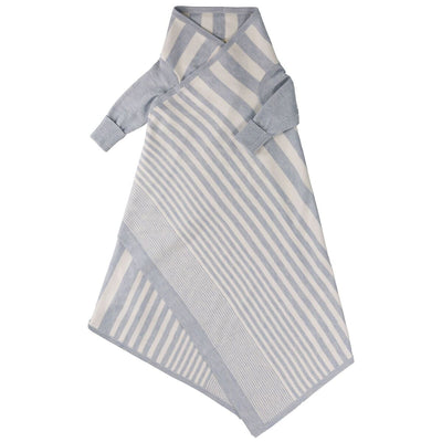 Jujo Baby - Phased Stripe Shwrap - Blue /Ecru