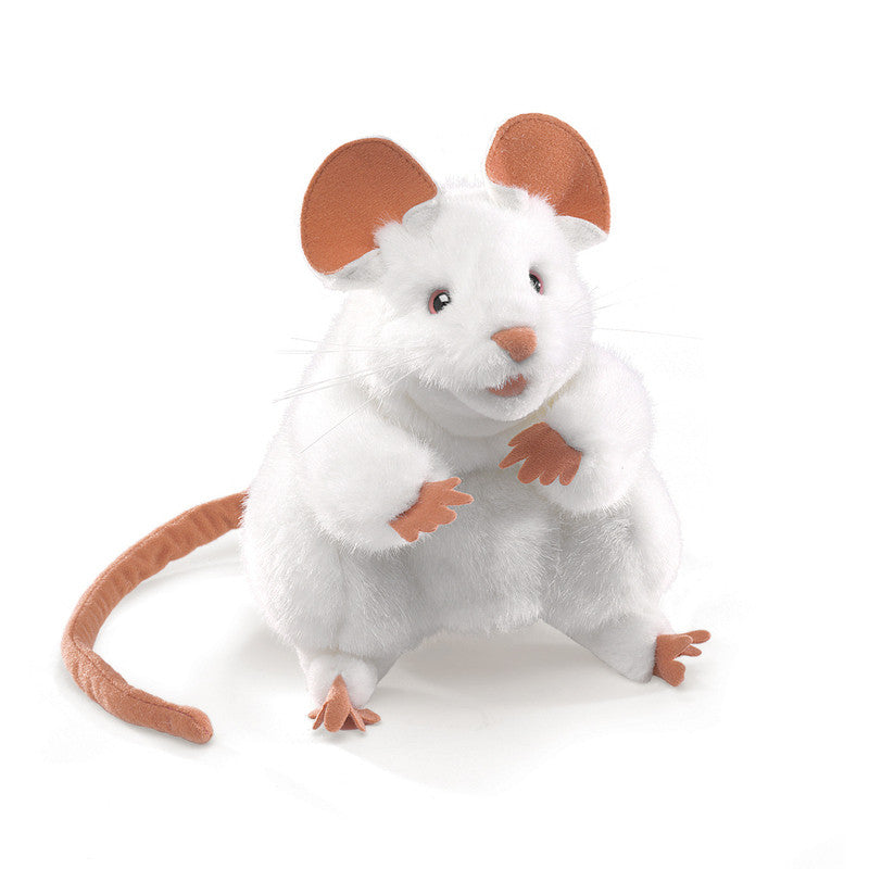 Folkmanis  - White Mouse Puppet