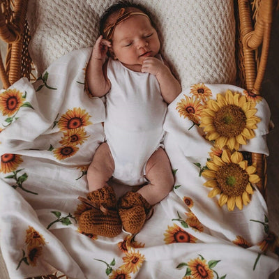 Snuggle Hunny Kids - Organic Muslin Wrap - Sunflower
