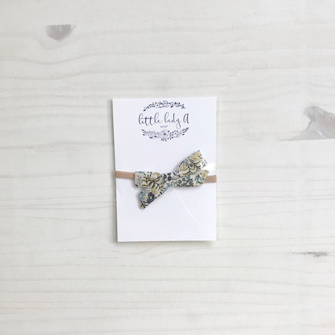 tied bow headband - rifle floral