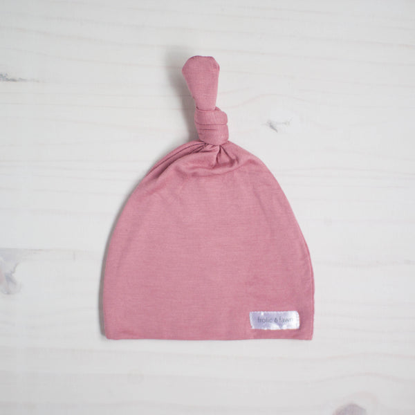 knot hat | rose