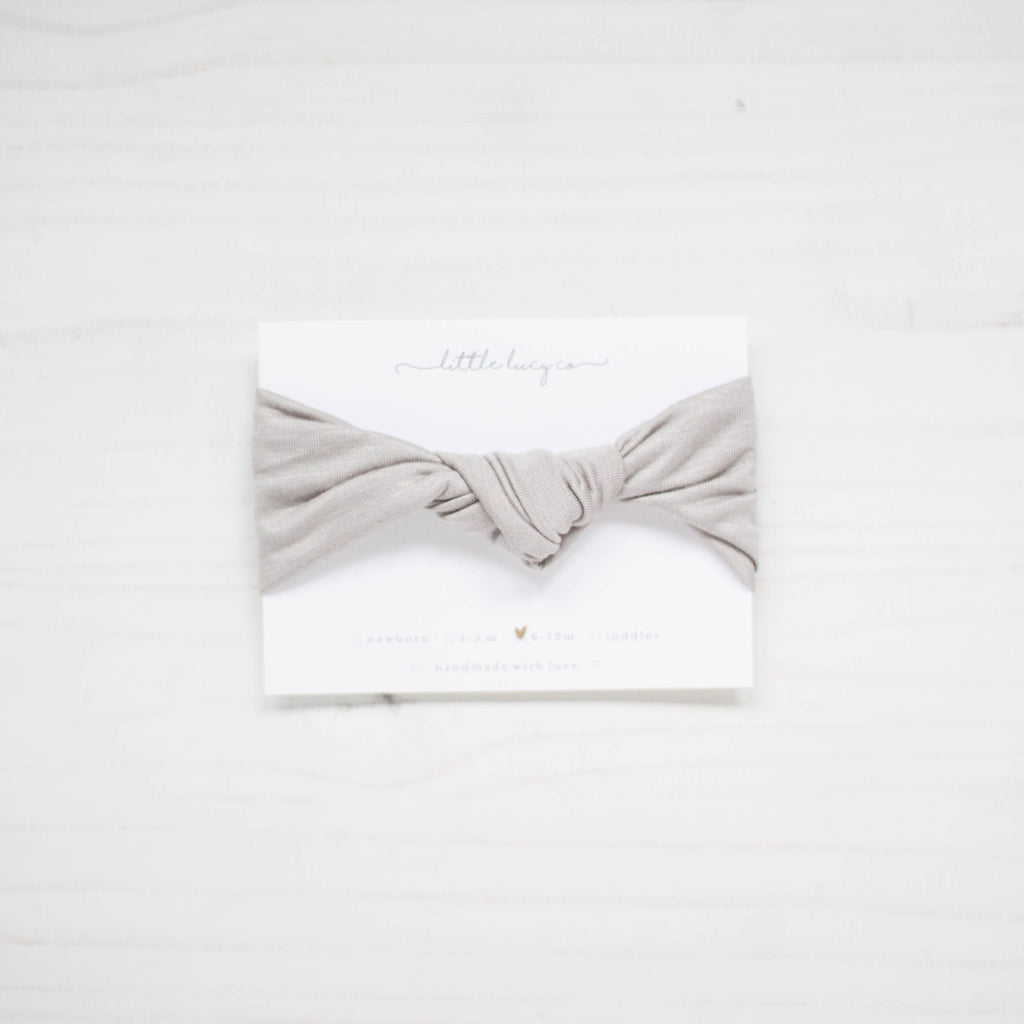 knot headwrap - gray