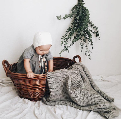 penelope blanket | dark gray