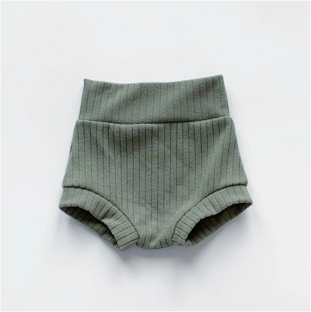high waisted shorties | eucalyptus