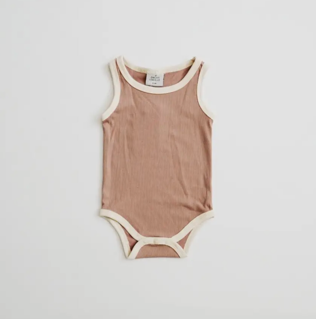 ribbed bodysuit | pale mauve