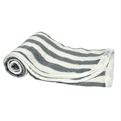hooded baby turkish towel | slate